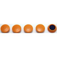 カラーマグネット Φ20 黄 5ヶ入 72014 マグネット 磁石 黒板 掲示 シンワ測定