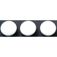 カラーマグネット Φ30 白 3ヶ入 72016 マグネット 磁石 黒板 掲示 シンワ測定