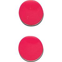 マグクリップ 丸型 A 赤 2ヶ入 72039 マグネット 磁石 黒板 掲示 シンワ測定