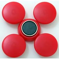 強力カラーマグネット ヨーク付 Φ25 赤 5ヶ入 72057 マグネット 磁石 黒板 掲示 シンワ測定
