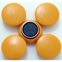 強力カラーマグネット ヨーク付 Φ25 黄 5ヶ入 72061 マグネット 磁石 黒板 掲示 シンワ測定