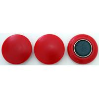 強力カラーマグネット ヨーク付 Φ40 赤 3ヶ入 72067 マグネット 磁石 黒板 掲示 シンワ測定