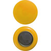 強力カラーマグネット ヨーク付 Φ50 黄 2ヶ入 72076 マグネット 磁石 黒板 掲示 シンワ測定