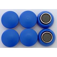 強力カラーマグネット ヨーク付 Φ20 青 6ヶ入 72077 マグネット 磁石 黒板 掲示 シンワ測定