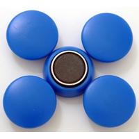 強力カラーマグネット ヨーク付 Φ25 青 5ヶ入 72078 マグネット 磁石 黒板 掲示 シンワ測定