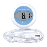 ホームサーモ デジタル T 冷蔵庫用 丸型 72980 温度計 シンワ測定