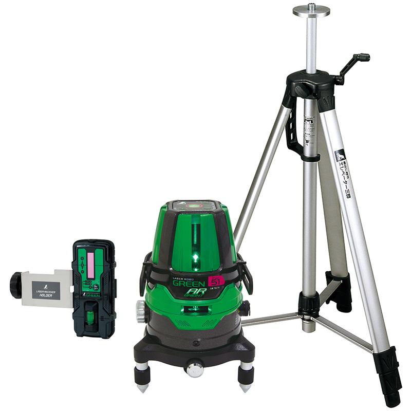 レーザーロボグリーンNeo51ARBRIGHT 受光器・三脚セット 78289 シンワ測定 レーザー 光学機器 建築 土木 測量 測定器 測量用品
