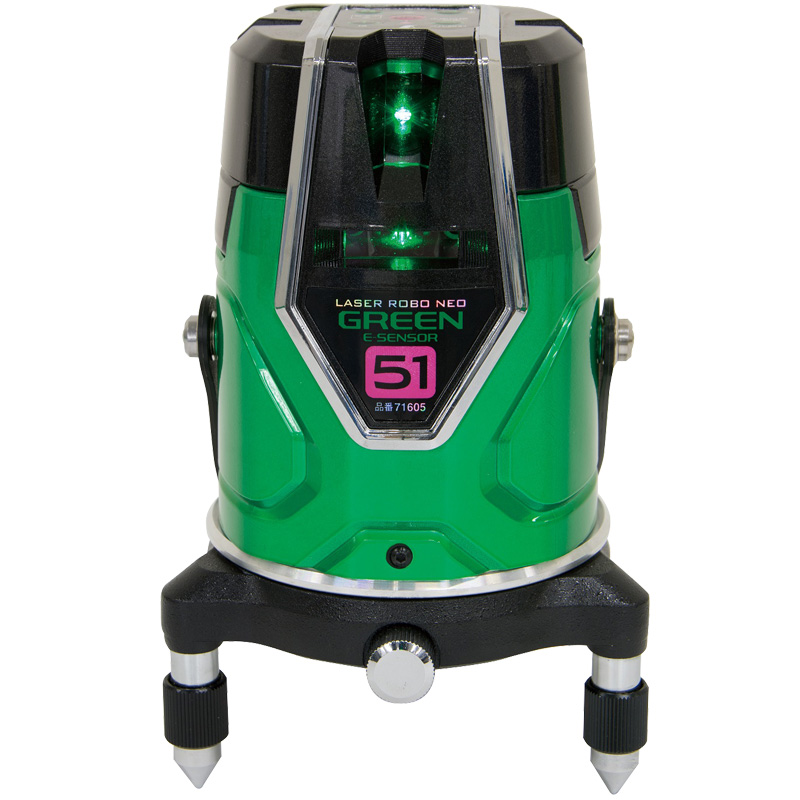 レーザーロボグリーンNeoESensor51縦横大矩通り芯×2・地墨 71605 シンワ測定 レーザー 光学機器 建築 土木 測量 測定器 測量用品