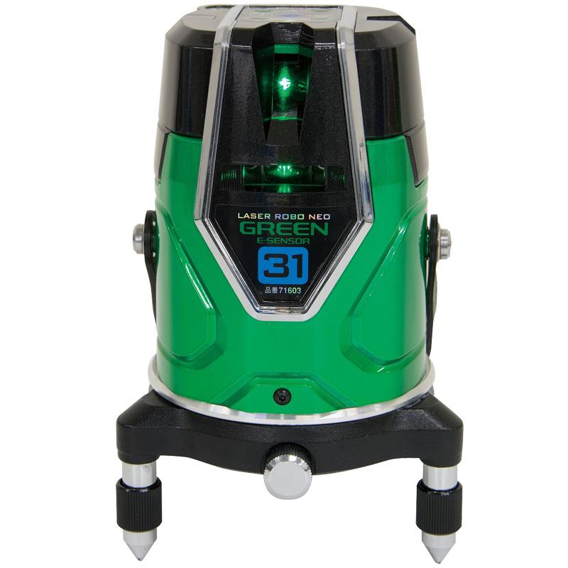 レーザーロボ グリーン NeoESensor31 縦・横・大矩・地墨 71603 シンワ測定 レーザー 光学機器 建築 土木 測量 測定器 測量用品
