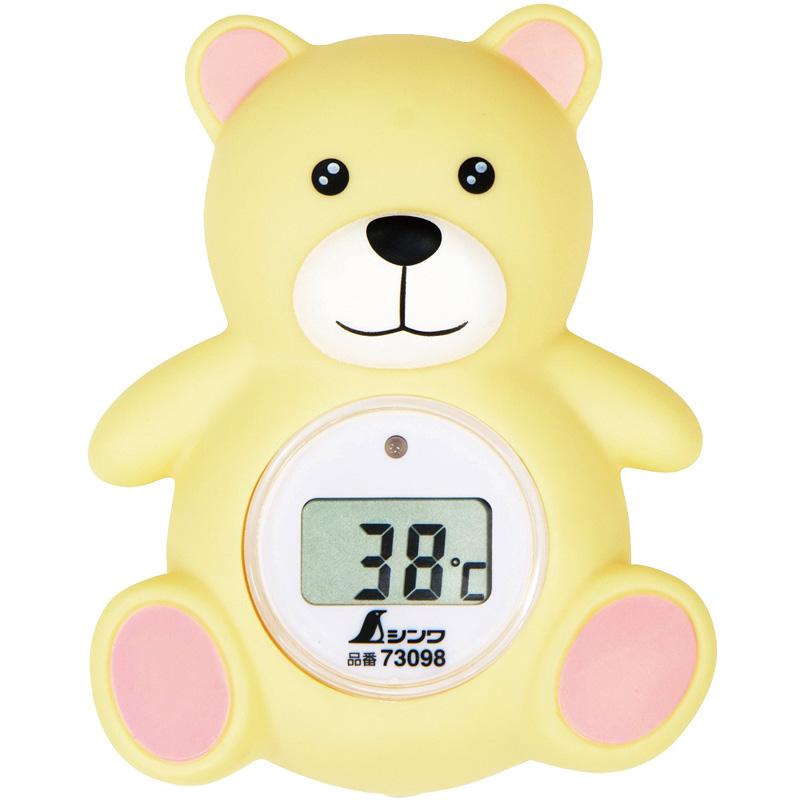 風呂用 デジタル温度計 B クマ 73098 シンワ測定 赤ちゃん ベビー用品 沐浴 温度計 お風呂用品
