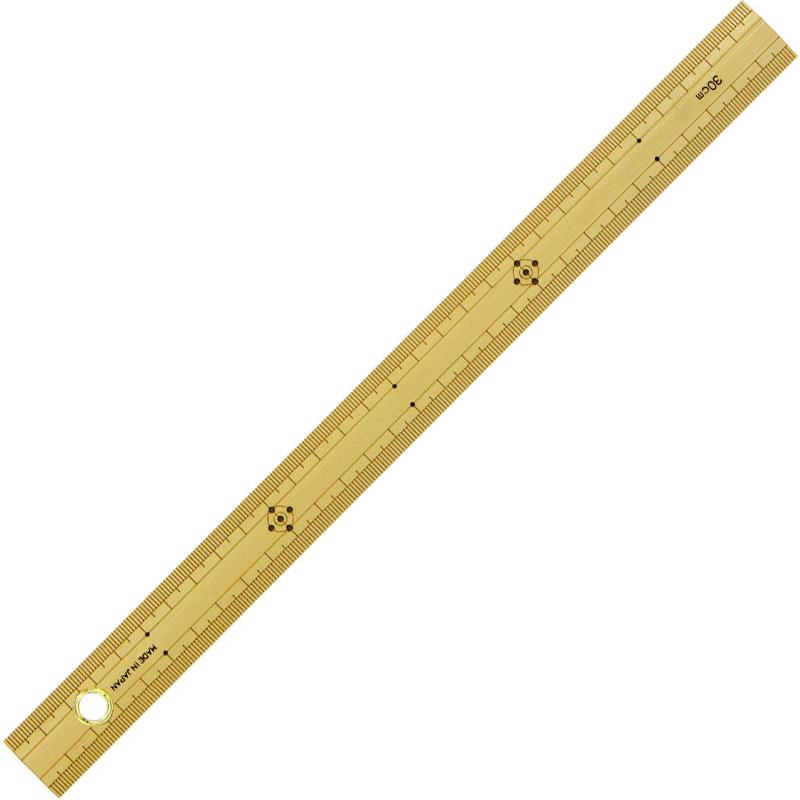 竹製 ものさし 30cm 上下段1mmピッチハトメ付 シンワ測定 定規 測定 スケール 測る DIY 建築用 工具