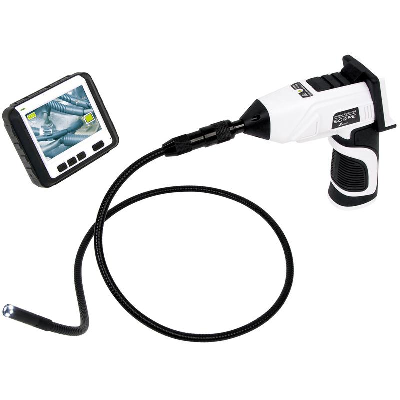 工業用内視鏡 モニタリングスコープ B φ9 ワイヤレス3.5インチ液晶 74173 シンワ測定 おすすめ