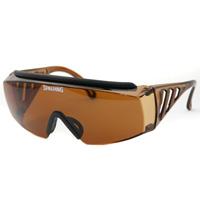 オーバーグラス SPO-107 ブラウン スポルディング オーバーサングラス 紫外線カット メンズ