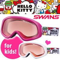 ゴーグル ジュニア ハローキティ SWANS [スワンズ] スキー スノーボード [16-17カタログモデル] KT-131H 子供用 女の子 ヘルメット対応 UVカット くもり止め 対応 キティちゃん キャラクター サンリオ