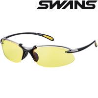 スポーツサングラス エアレスウェイブ SA-517 イエロー 両面マルチレンズ SWANS スワンズ