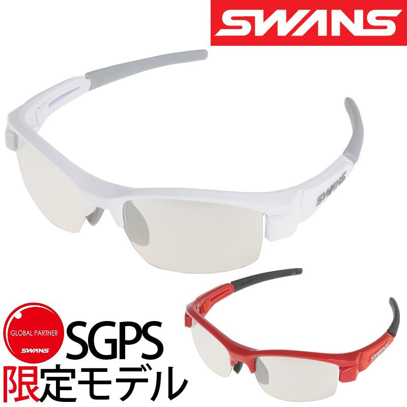 [SGPS限定モデル]スポーツサングラス LION-Compact シルバーミラー×クリア L-LIC-0712 ミラーレンズ サングラス レディース 子供用 紫外線 UVカット 小さめサイズ ゴルフ おしゃれ SWANS スワンズ