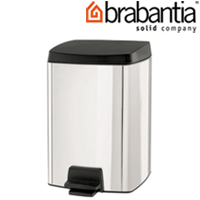 レクタングラーペダルビン 10L クローム 39562-8 brabantia ごみ箱 ゴミ ペダルピン ダストボックス インテリア雑貨 ブラバンシア