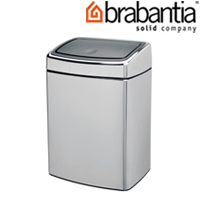 レクタングラータッチビン 10L クローム 47720-1 brabantia  ごみ箱 ゴミ ダストボックス インテリア雑貨 ブラバンシア