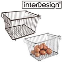 インターデザイン ラージビン 63371-6 63376-1 インターデザイン 収納 ラック かご カゴ オープンバスケット 食品入れ キッチン雑貨 雑貨