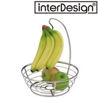 インターデザイン バナナハンガー&フルーツボール 59870-1  インターデザイン バナナハンガー 収納 バナナ掛け キッチン雑貨 フルーツ入れ おしゃれ