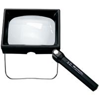 虫眼鏡 ハンド・スタンド兼用 低倍率 ルーペ ボス 2倍 8D 100×75mm シュバイツァー ボス・サー・ボーイ S903002 SCHWEIZER 弱視 BOSS 拡大鏡