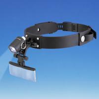 ヘッドルーペ ヘッドバンドルーペ LEDライト付き HE-8004-LED 虫眼鏡