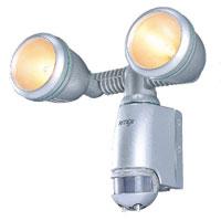 センサーライト 屋外 ハロゲンライト V 2灯式 100W×2 防雨 V-1200 ライテックスシリーズ MUSASHI [ムサシ]