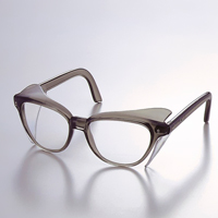 メガネ 337-TBCR オリジナルフレーム ツバ付き 保護メガネ [スペクタクル形]