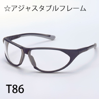 保護メガネ TOA80シリーズ T86 PCF アジャスタブルフレーム pm2.5 花粉症 対策 グッズ 保護メガネ 花粉 粉じん