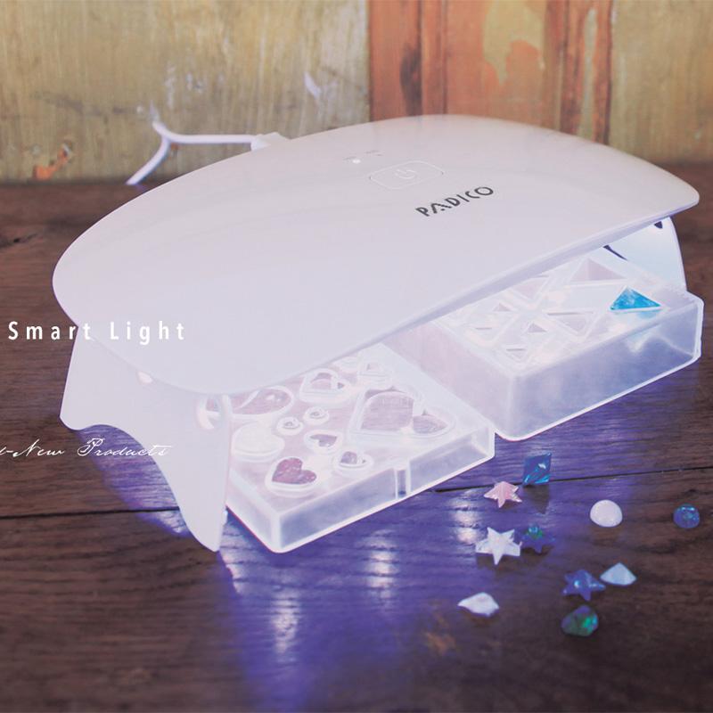 UV-LED スマートライトラージ 405nm+365nm ハイブリット照射器 UV LED ライト レジン用 硬化ライト おすすめ レジン 紫外線 403244 パジコ