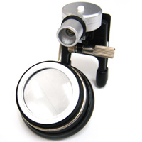 LEDライト付 クリップルーペ 5倍 眼鏡に取り付け 両手が使える 時計見 虫眼鏡