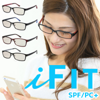 PCグラス i-fit spf/pc+ IF-2001 PCメガネ パソコン ブルーライト 目が疲れにくい