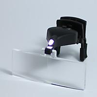 【訳あり】 アウトレット LEDライト付き 双眼メガネルーペ クリップタイプ レンズ3種セット クリアルーペ 虫眼鏡 池田レンズ