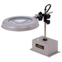 【受注生産★納期約14日】 照明拡大鏡 ボックススタンド固定式 WIDE-D 4倍 オーツカ光学