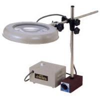 虫眼鏡 拡大鏡 スタンド ルーペ 照明拡大鏡 マグネットスタンド式 WIDE-MS 2倍 オーツカ光学