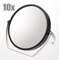 10倍拡大鏡 メイク付き両面スタンドミラー YL-1500 鏡 卓上ミラー スタンドミラー 拡大鏡 [拡大ミラー] 10倍 両面[鏡] 丸型 ヤマムラ 老眼