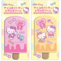 鏡 アイスキャンディー ミラー&コーム ハローキティー[Hello Kitty] YKI-01 【ミラー コンパクトミラー 拡大鏡 [拡大ミラー] コーム(くし 櫛)】ヤマムラ 折りたたみ