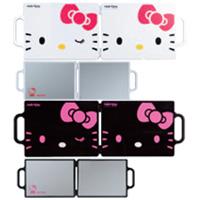 【メーカー在庫限り★特価】 ハローキティ [Hello Kitty] バックミラー YK-101 YK-102 ミラー コンパクトミラー 2面[鏡] 角型 可愛い 売れ筋 手鏡 鏡 折りたたみ キティちゃん サンリオ