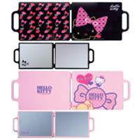 ハローキティ [Hello Kitty] バックミラー YK-103 YK-104 ミラー コンパクトミラー 2面[鏡] 角型 可愛い 売れ筋 手鏡 鏡 折りたたみ サンリオ