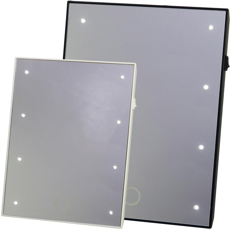 ブライトニングミラータッチS YLD-06 LEDライト ミラー メイクアップ メイク スタンドミラー 卓上ミラー コンパクトミラー 鏡