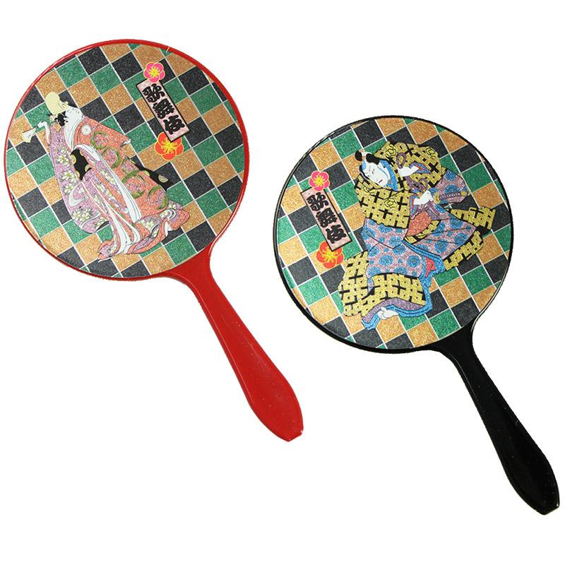 ミニハンドミラー 歌舞伎シリーズ 歌舞伎 コンパクト ハンドミラー 手鏡 ミラー 和柄 丸型