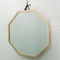 吊鏡 ハンガーミラー 開運ミラー 八角形 風水ミラー [鏡] ゴールドS 鏡 壁掛け ウォールミラー