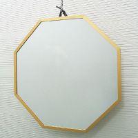吊鏡 ハンガーミラー 開運ミラー 八角形 風水ミラー [鏡] ゴールドL 鏡 壁掛け ウォールミラー