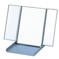 卓上 三面鏡 ヤマムラ 卓上ミラー スタンドミラー 折りたたみ コンパクトミラー [鏡] ビブレウィングミラー シルバー