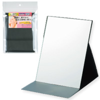 BE CLEAR プロ仕様 [鏡] 折立ミラー YBC-1201 [メイク用鏡] 【鏡 かがみ 卓上鏡 卓上ミラー 毛穴 シミ シワ メイク プロ仕様 持ち運び便利 売れ筋 シンプル】