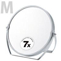 卓上ミラー 拡大鏡 メイク スタンドミラー 卓上 ヤマムラ [鏡] 7倍拡大鏡 メイク [拡大ミラー] 付き M 丸型 折りたたみ 化粧