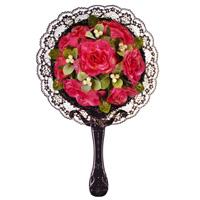 ミラー [鏡] 芦屋 [Bouquet] ハンドメイド デコレーションミラー