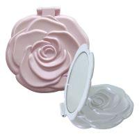コンパクトミラー [鏡] ロマンチックローズ 乙女系 可愛いバラの形