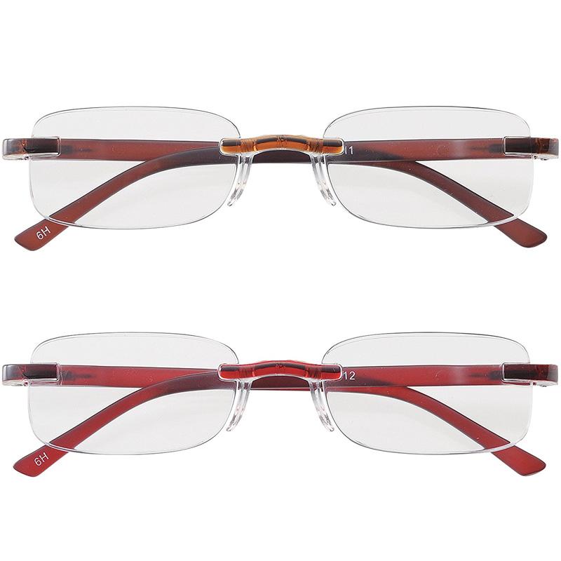老眼鏡 シニアグラス 女性 レディース おしゃれ 男性 メンズ ライブラリーコンパクト リーディンググラス ふちなし おすすめ