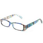 リーディンググラス [老眼鏡] [シニアグラス] 専用ケース付き RP399 マルチブルー カラフル おしゃれ